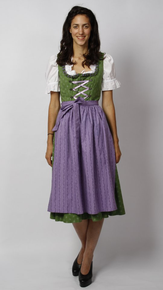 Dirndl green with purple apron