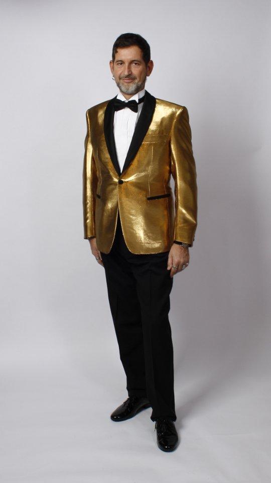 Golden tuxedo jacket