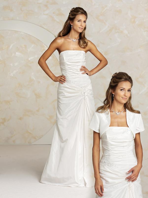 Brautkleid gerafft