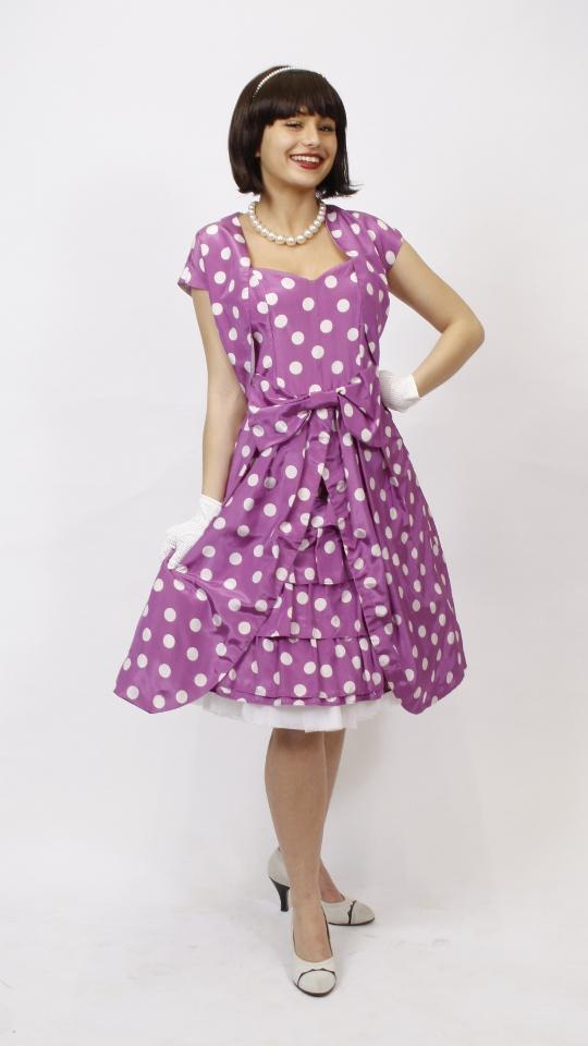 50er jahre outfit lila kost mverleih breuer in m nchen. Black Bedroom Furniture Sets. Home Design Ideas