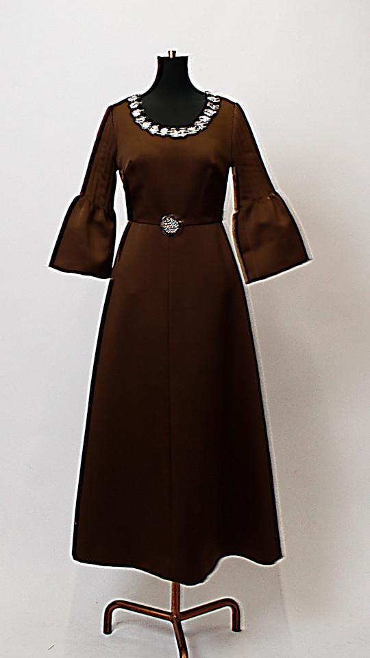 Sechziger Jahre Kleid braun - Kostümverleih Breuer in München