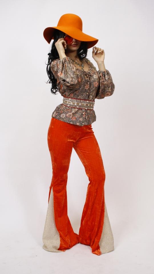 70er Siebziger Jahre Schlaghose orange