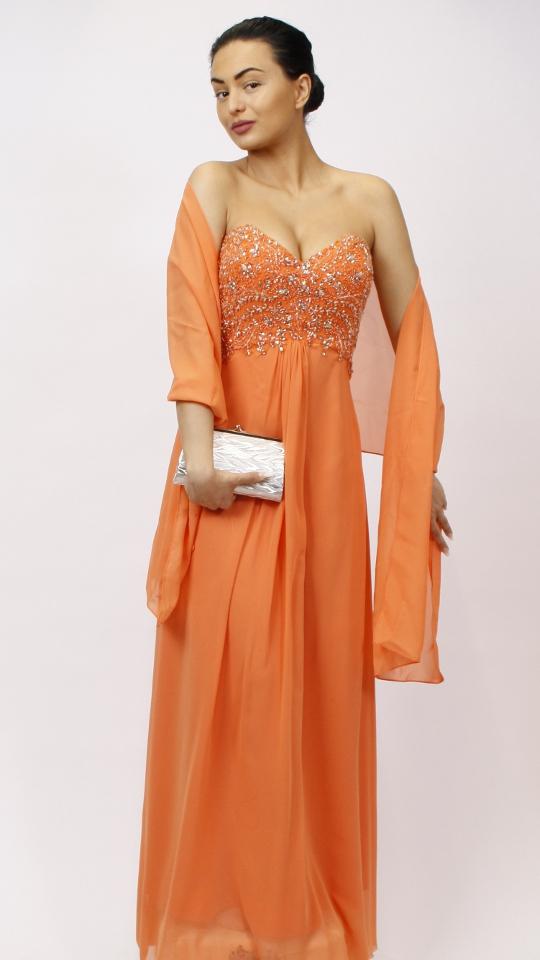 Abendkleid orange