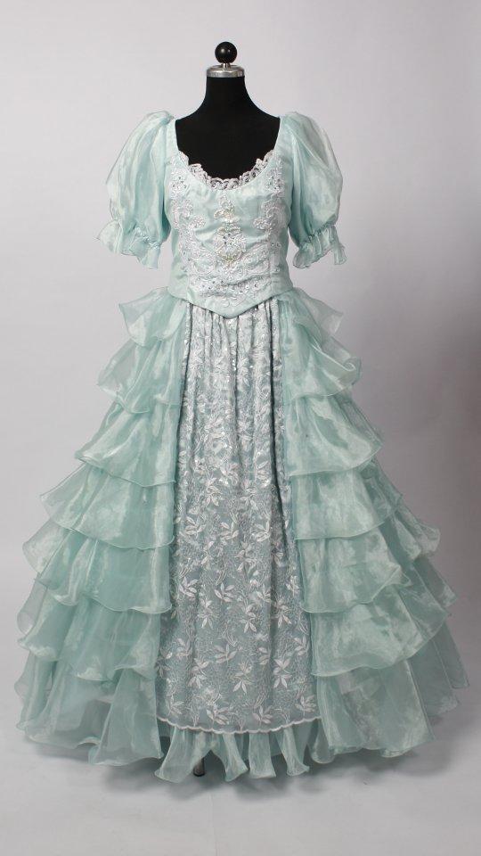 Abendkleid / Ballkleid mintgrün - Kostümverleih Breuer in ...