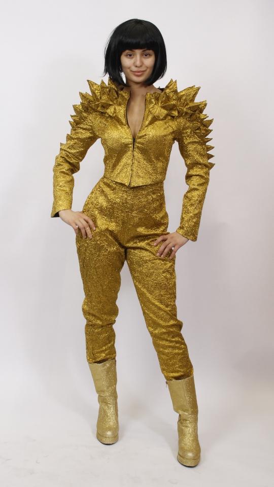 Goldene Drachenjacke