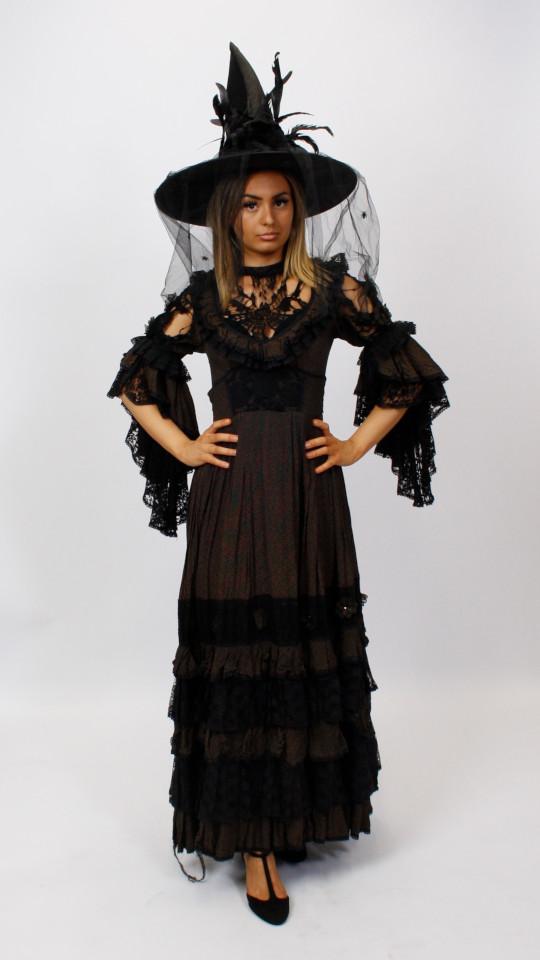 Halloweenkleid mit Hexenhut