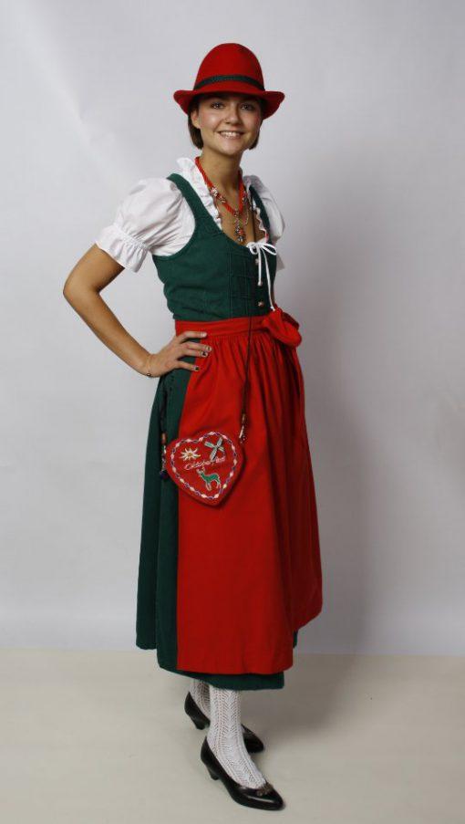 Rebecca-Dirndl-gruen-rot