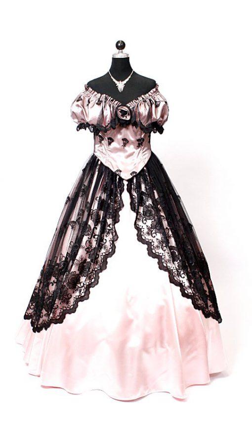 Sissikleid rosa schwarz