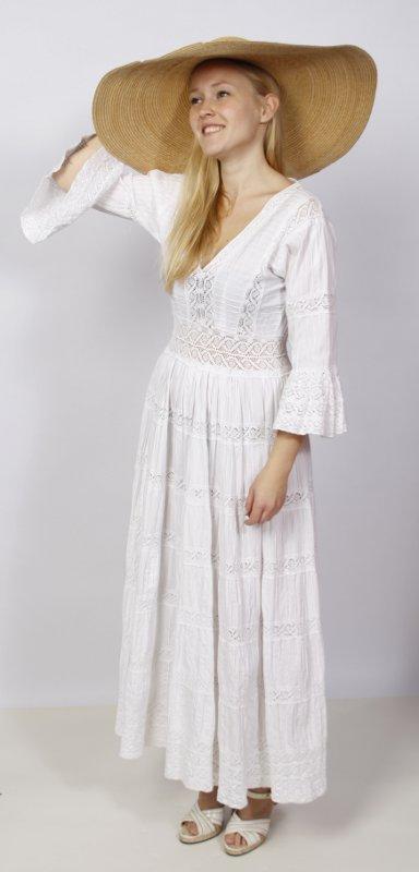 70er Siebziger Jahre Kleid Weiss Kostumverleih Breuer In Munchen