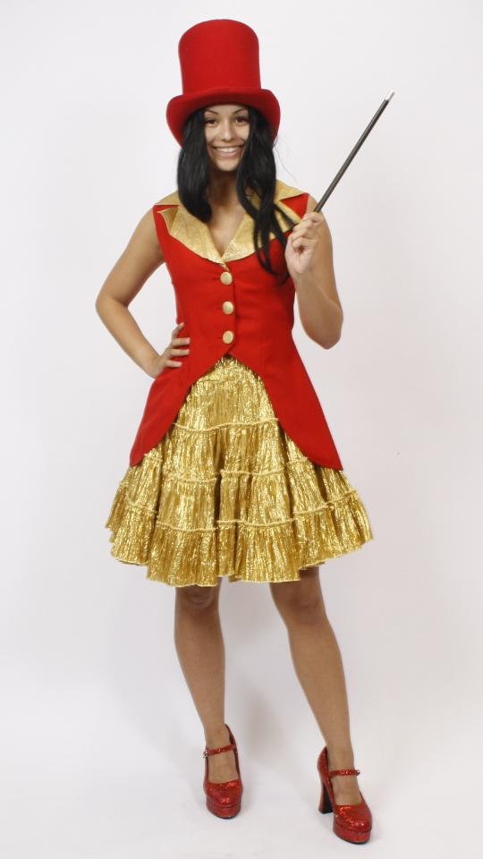 Zirkuskostüm rot/gold
